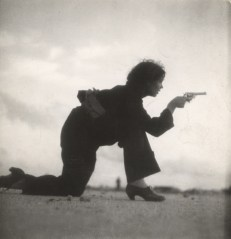 Taro's image of a Republican militiawoman training on a beach.