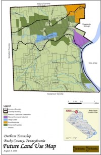 Map showing the future land use for Durham Townships 2006 Comprehensive Plan