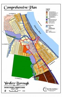 Image of 2001 Yardley Borough Comprehensive Plan Map prepared by Castle Valley Consultants