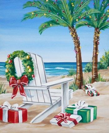 Beach Presents Christmas Card