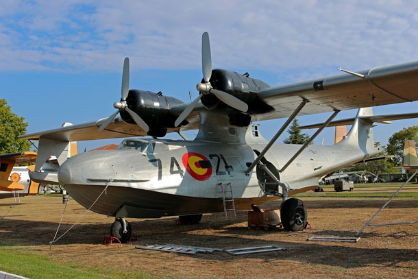 The former Canadian PBY-5A at the Museo del Aire, Cuatro Vientos, Madrid, newly repainted as Spanish Air Force 'DR.1-1/74-21'Photo: Rene Klok
