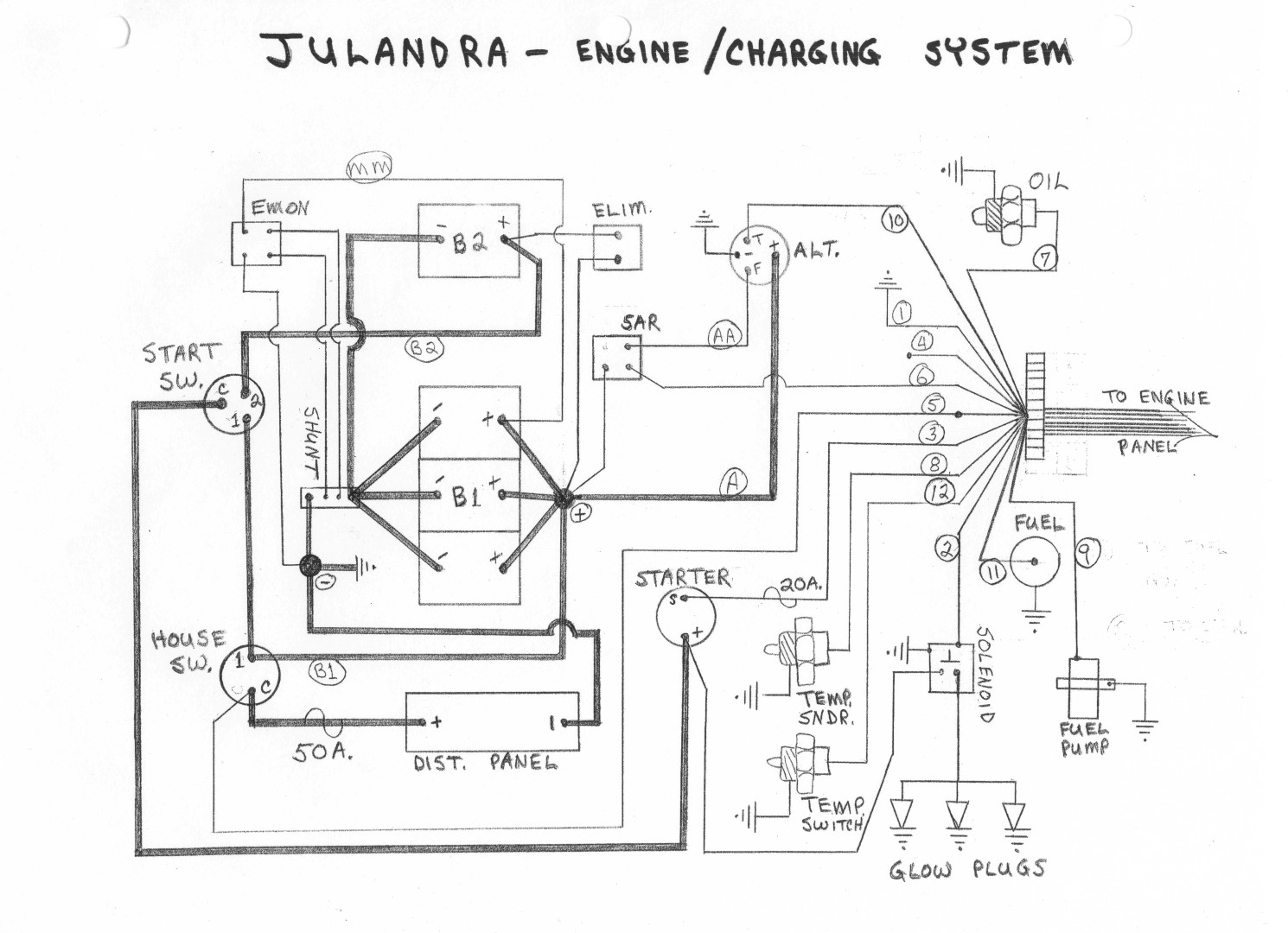 boat electrical schematic