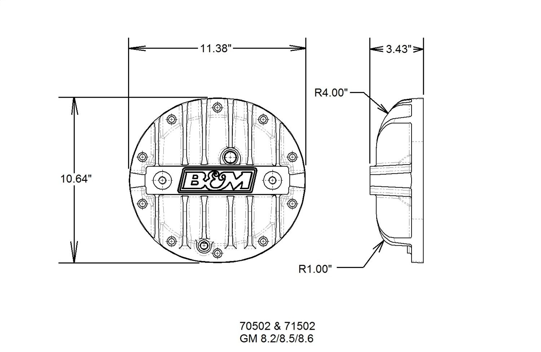 B Amp M Hi Tek Differential Cover Fits 67 81 Camaro