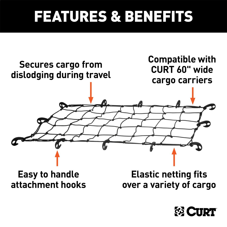 Curt Roof Mounted Cargo Rack Net