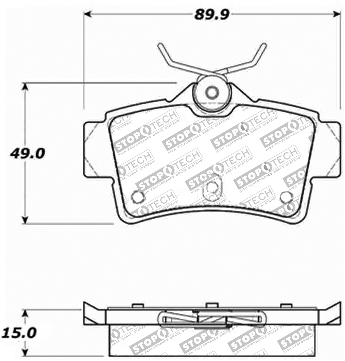 Stoptech 309 Stoptech Sport Brake Pads Fits 94 04