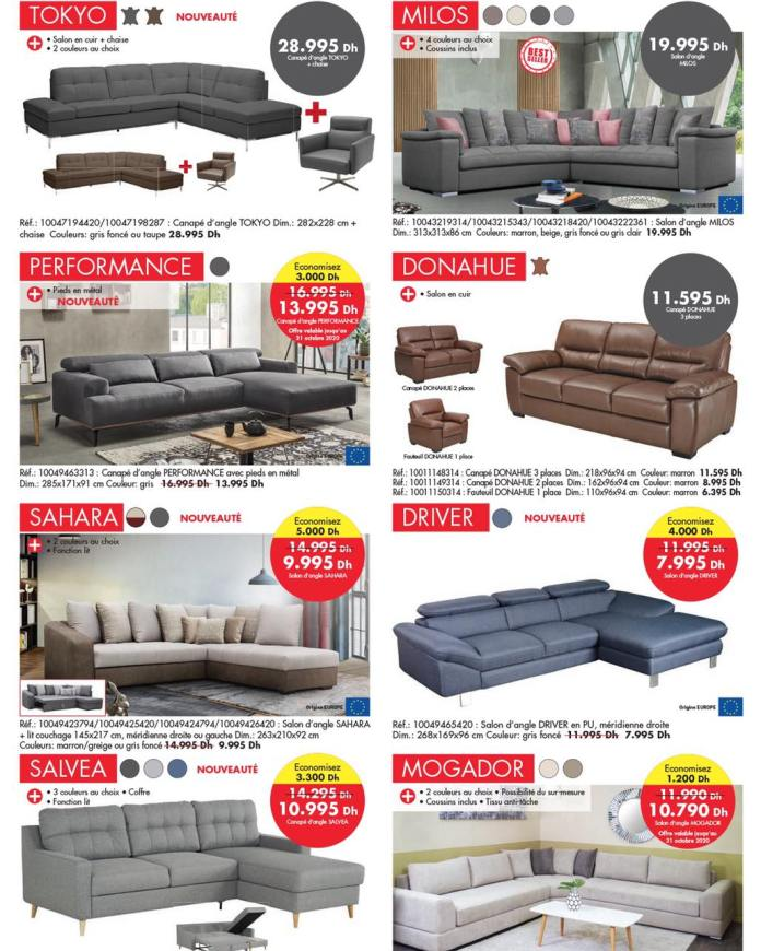 Catalogue KITEA octobre 2020 canapé - sofa p3