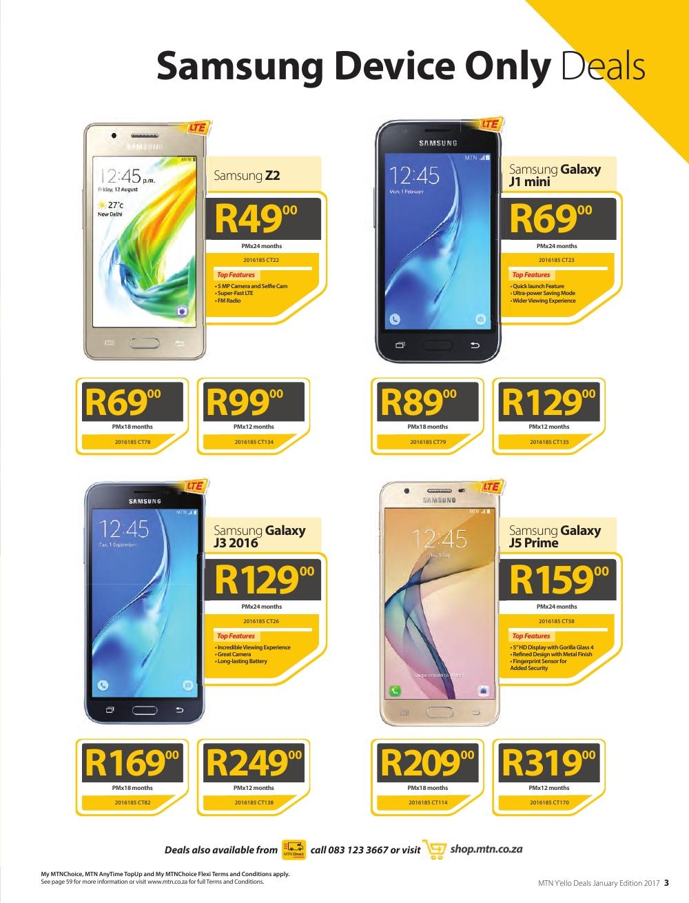 Catalogue Mtn Phones Contract