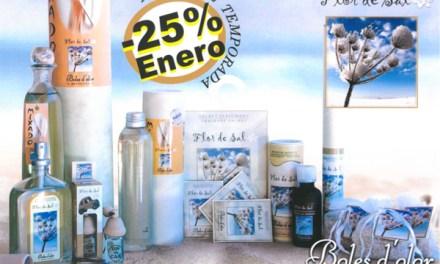 Flor de Sal: aroma del mes de Boles d'Olor con 25% de descuento.