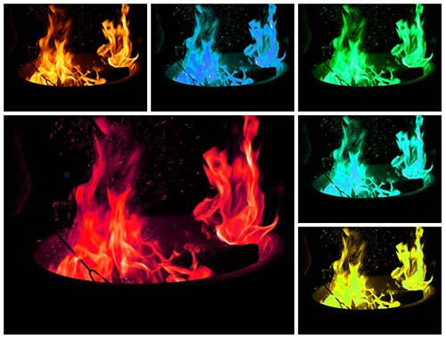 Catalytic Flames – Fire Pit Colored Flame Experiments – Twelve Count