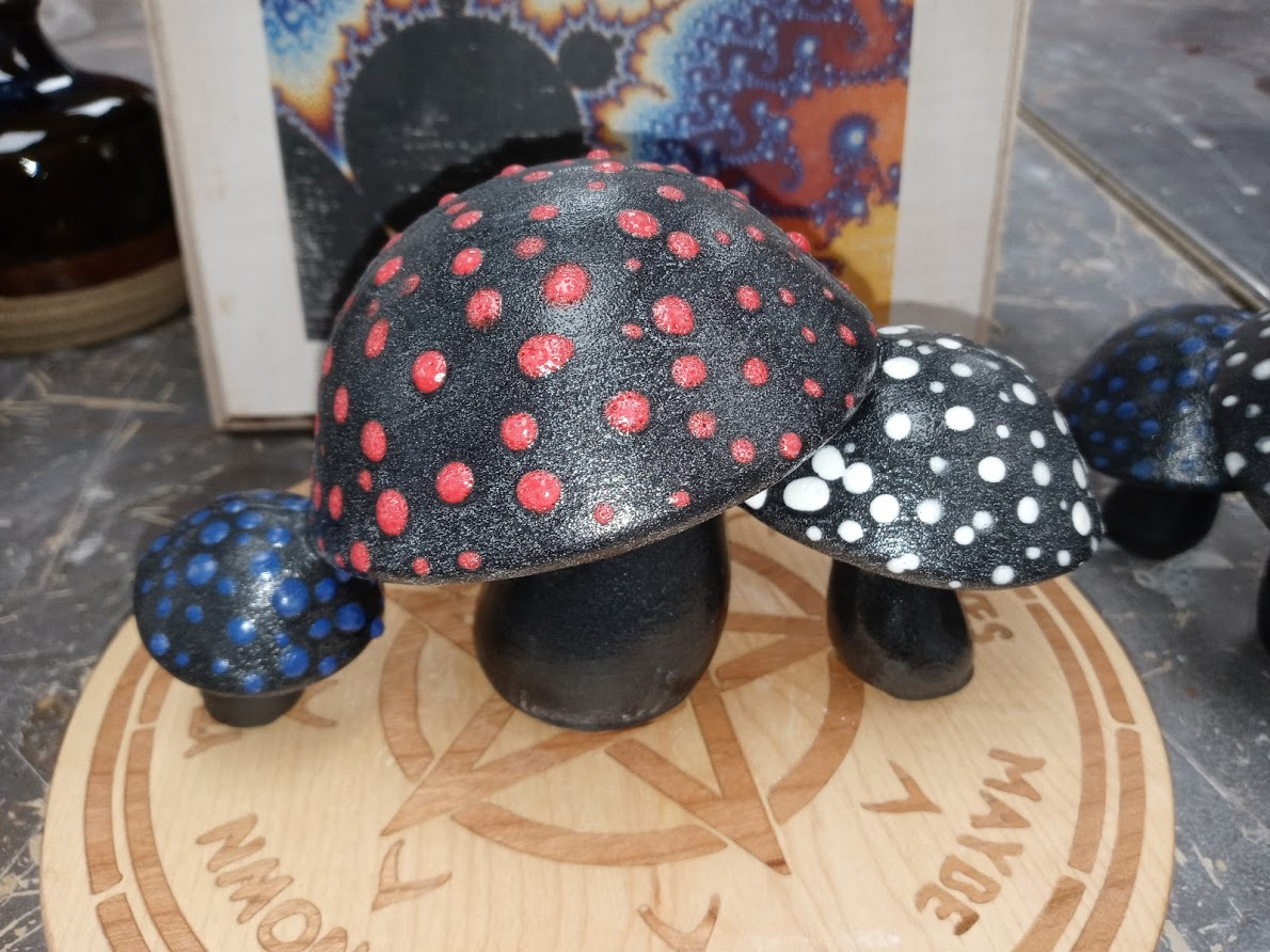 Ceramic Garden Mushroom