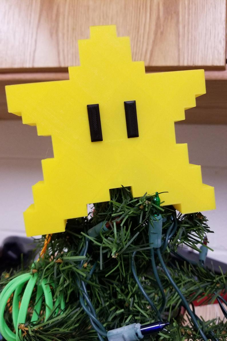 Super Mario Star Tree Topper | Power Star | Mario Star | Retro Star