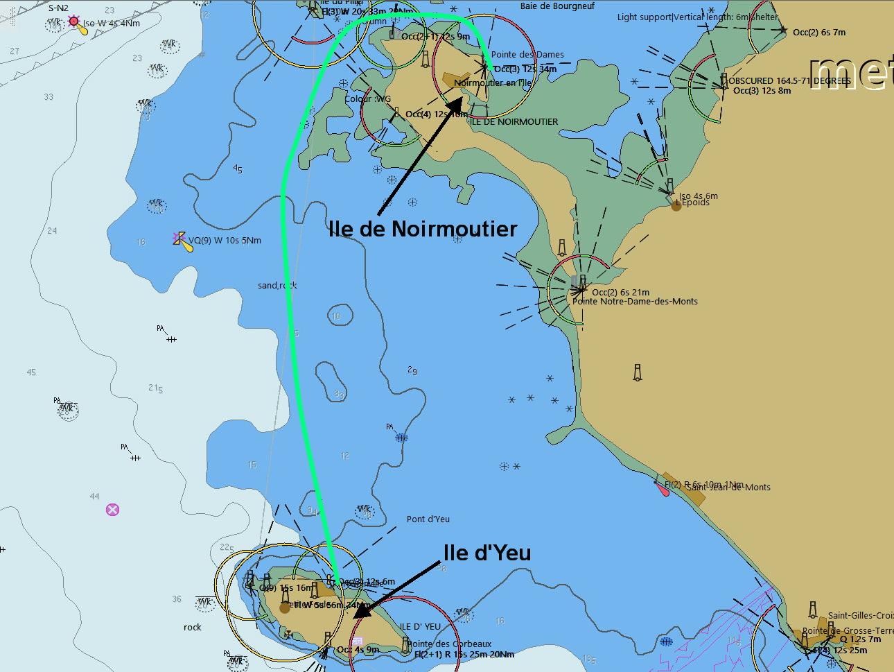Van Ile de Noirmoutier naar Ile d'Yeu