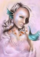 Mareia in digital portrait style, looking very beautiful.
