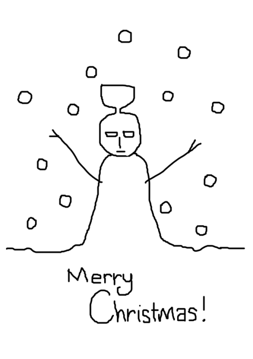 Priest Snowman