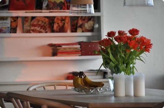 Orange køkken