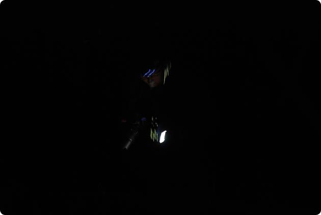 Mig i den mørke regnskov.