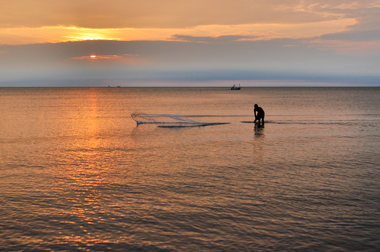 En fisker i Thailand