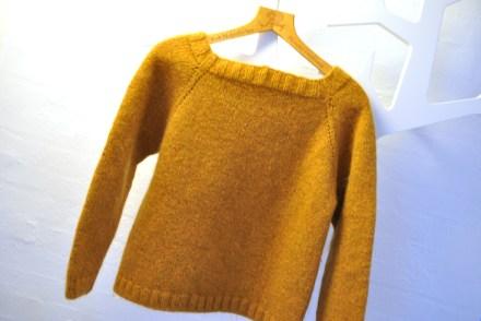 Min aller første strikket trøje