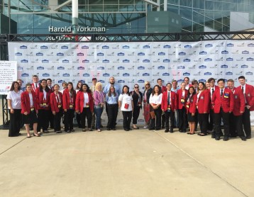 2016 CVCC SkillsUSA National Team at Closing Ceremonies June 242c 2016 Image