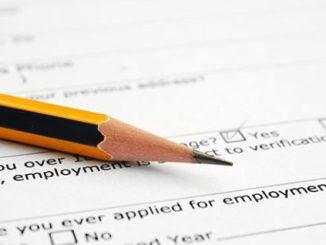 Employment form image