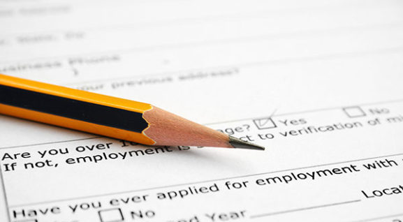 Employment form image