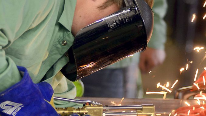 BHS Student Welding (Robert Reed Photo)