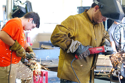 Bunker Hill Welding Students | John Bailey Photo
