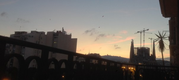 Sagrada Familia at sunset
