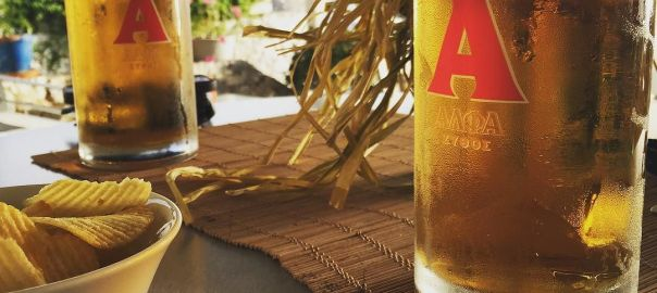 Alpha beer in Plakias