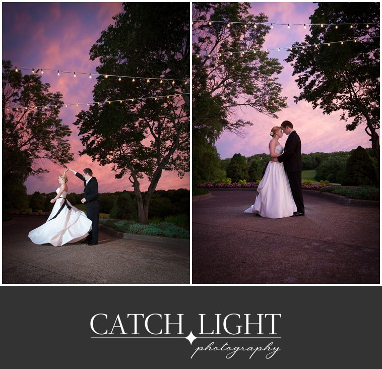 Kansas City wedding dance at sunset