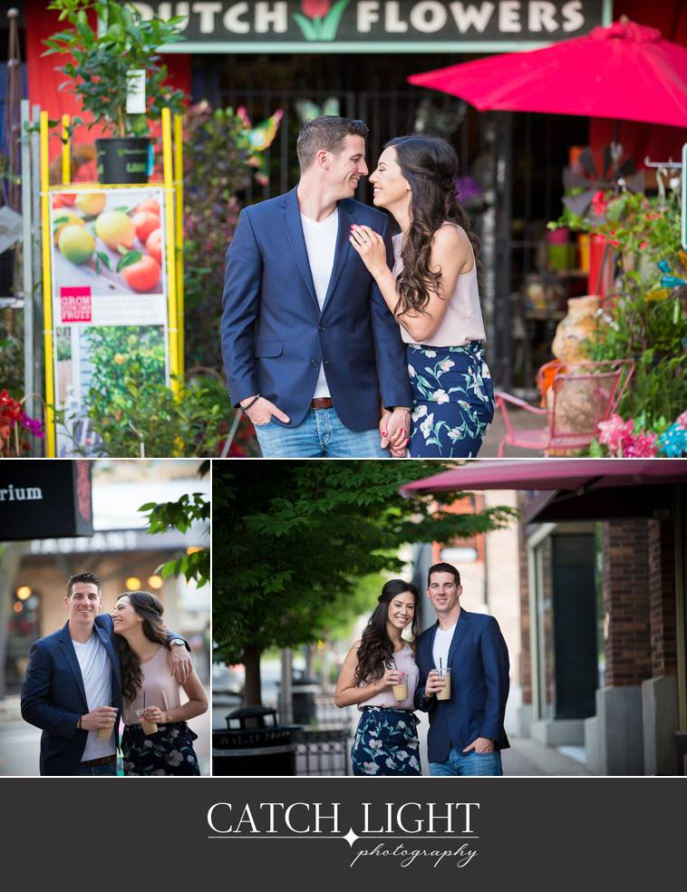 Kansas City Engagement photos taken in the rivermarket
