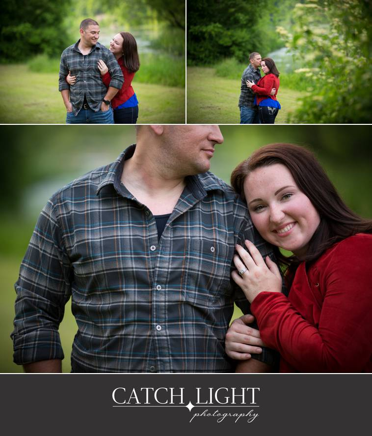 engagement photographs in a Kansas City park
