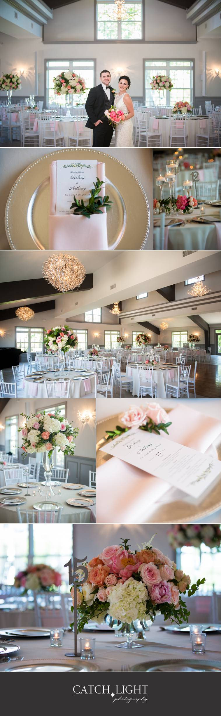 Wedding reception details at 1890 Event Space