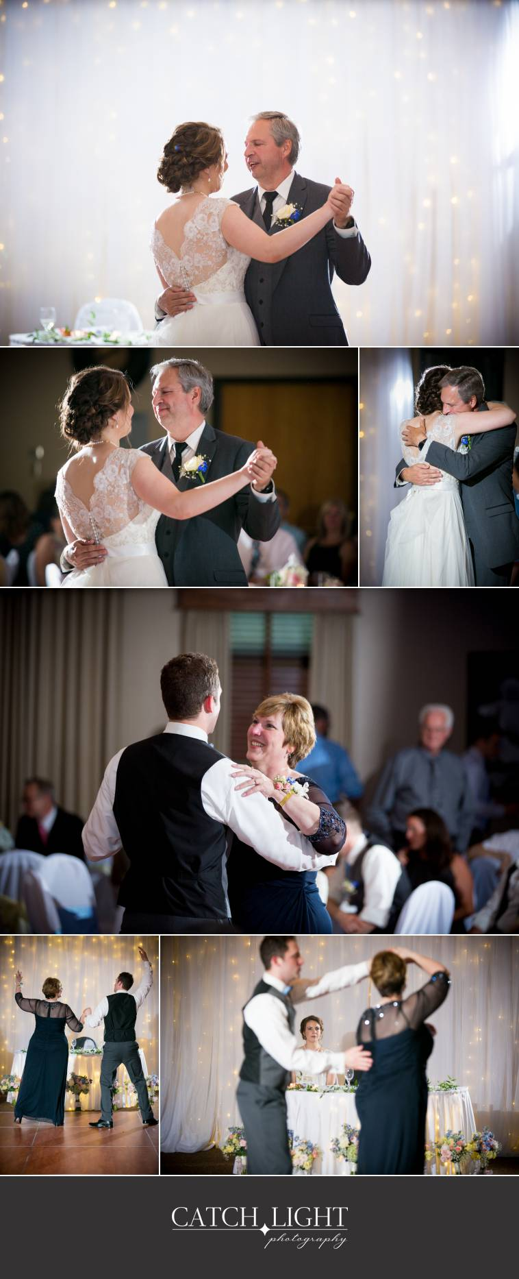 KC wedding photos of father daughter dance and mother son dance