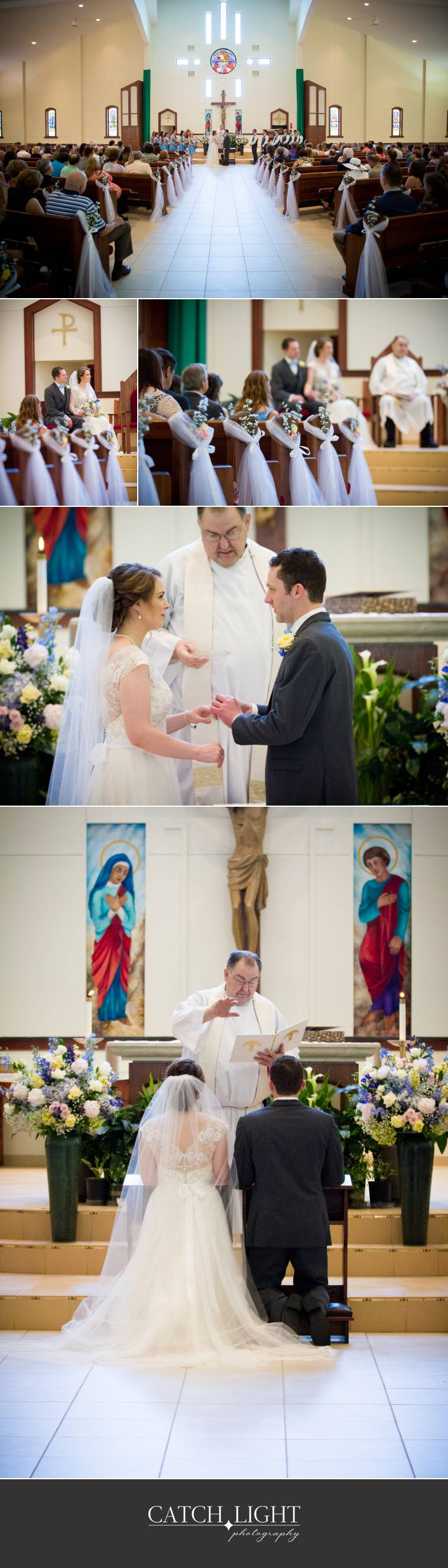 wedding photography of Catholic ceremony