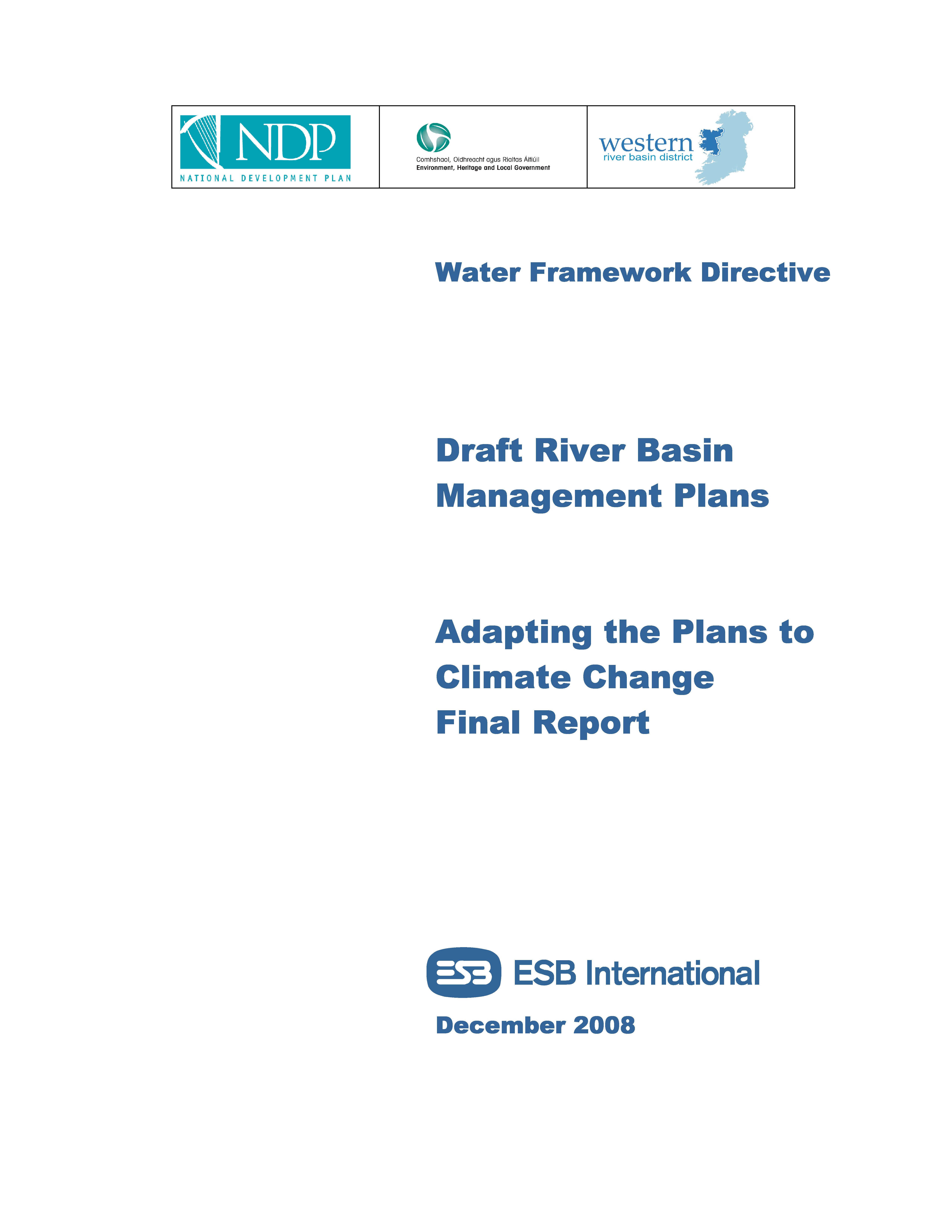 Cover from Adapting the Plan to Climate Change