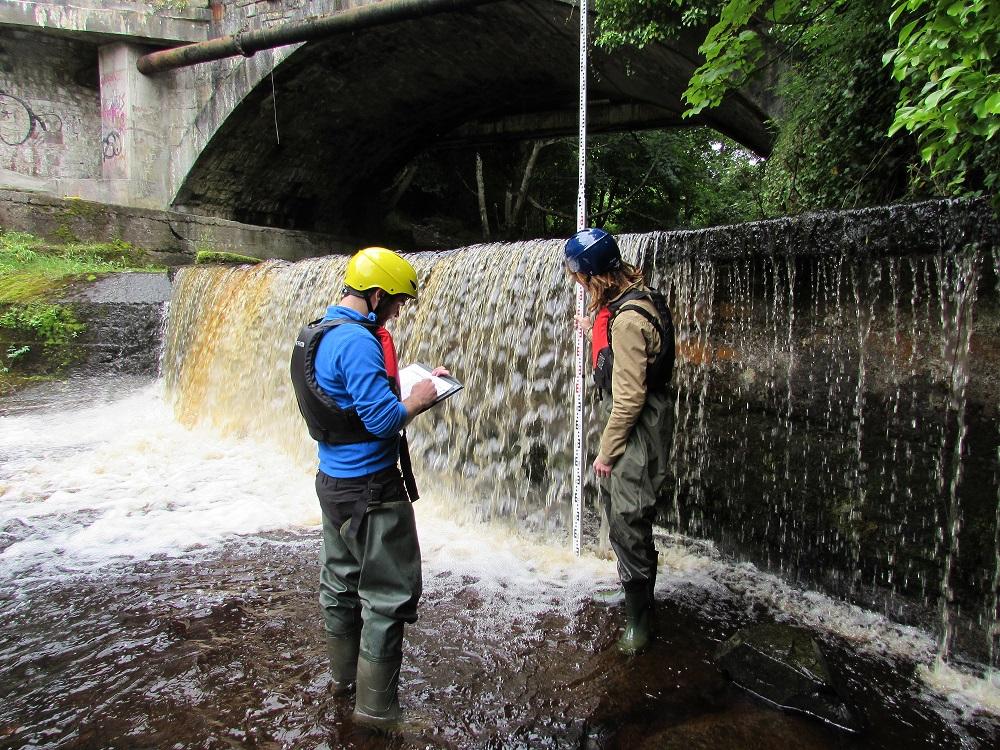 Survey of a bridge apron, River Dodder