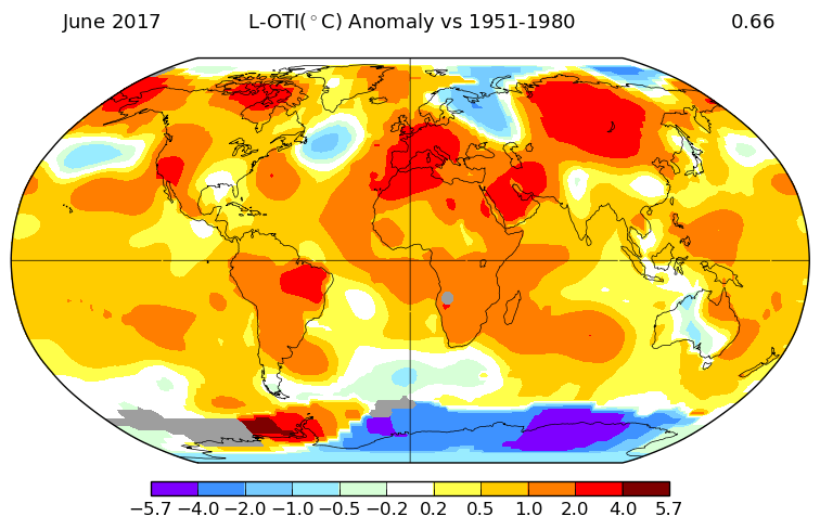 NASA GISS Temperature Anomaly