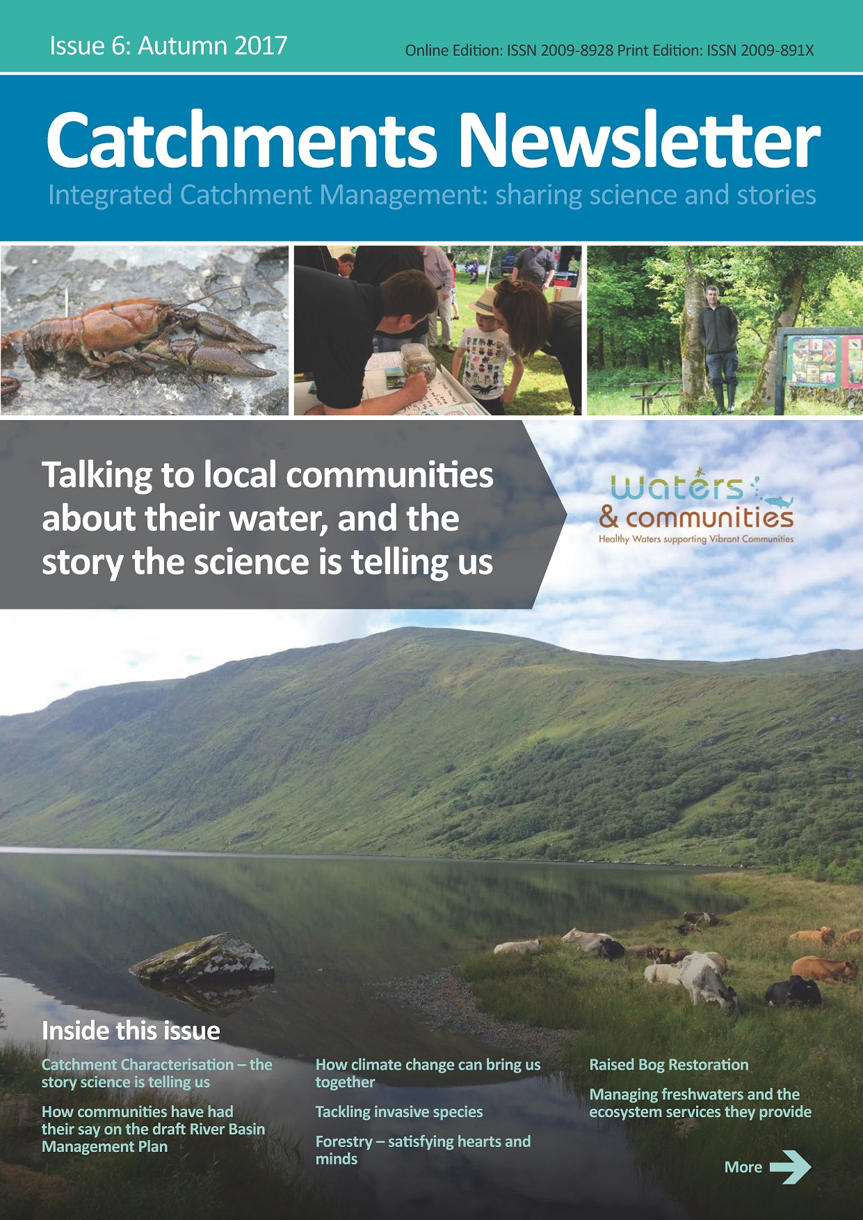 Cover Catchments Newsletter - sharing science and stories. Autumn 2017