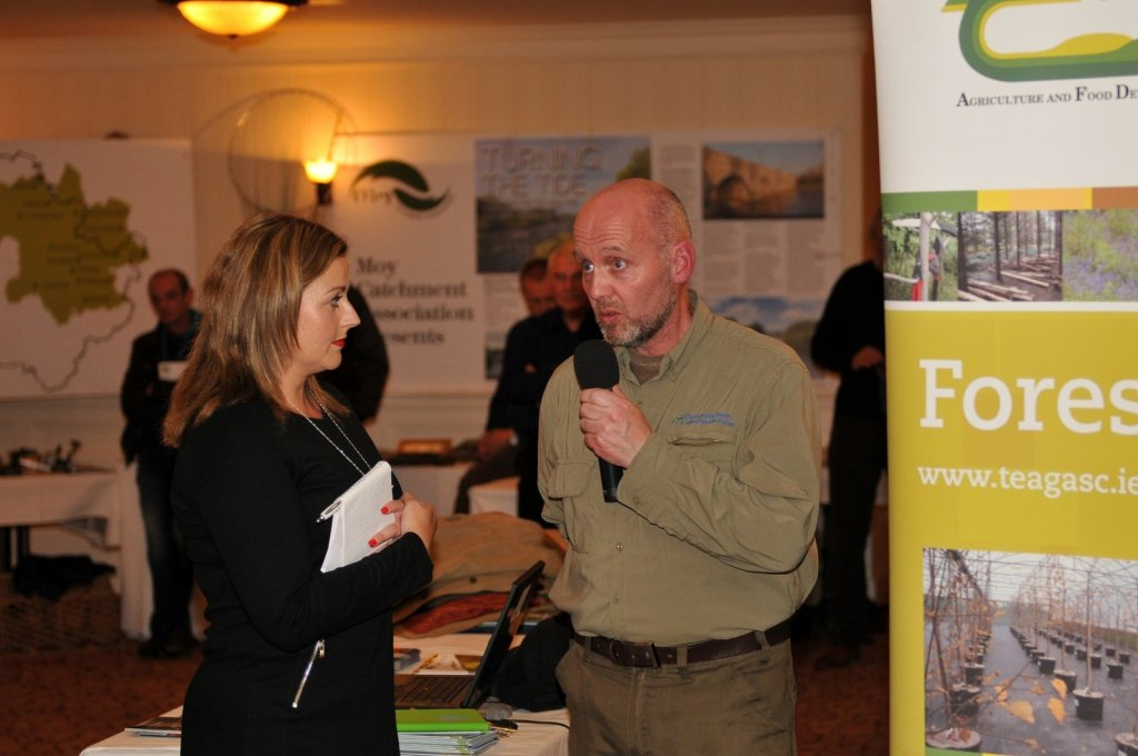 Angelina Nugent and Declan Cooke from Inland Fisheries Ireland