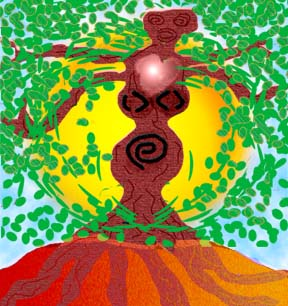 Warrior Mother Tree, art by Maria Mar(c)2009. Click to buy the ScreenArt Saver.