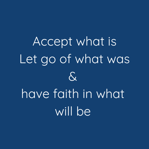Let go of what was