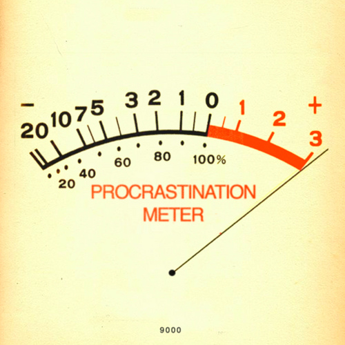 procrastination meter