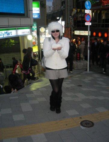 cate dressed up in harjuku
