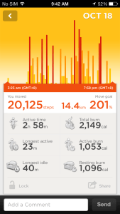Activity Tracking on the Jawbone UP iOS App