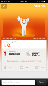 Adding Weights Workout on the Jawbone UP iOS App