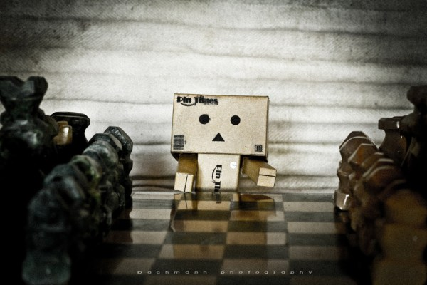danbo playing chess.