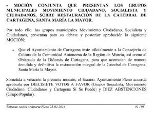 Pleno Ayto Cartagena 25.02.2016