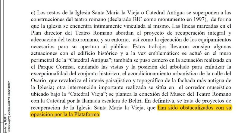 DGBC expresa que PCVC se opone a Catedral