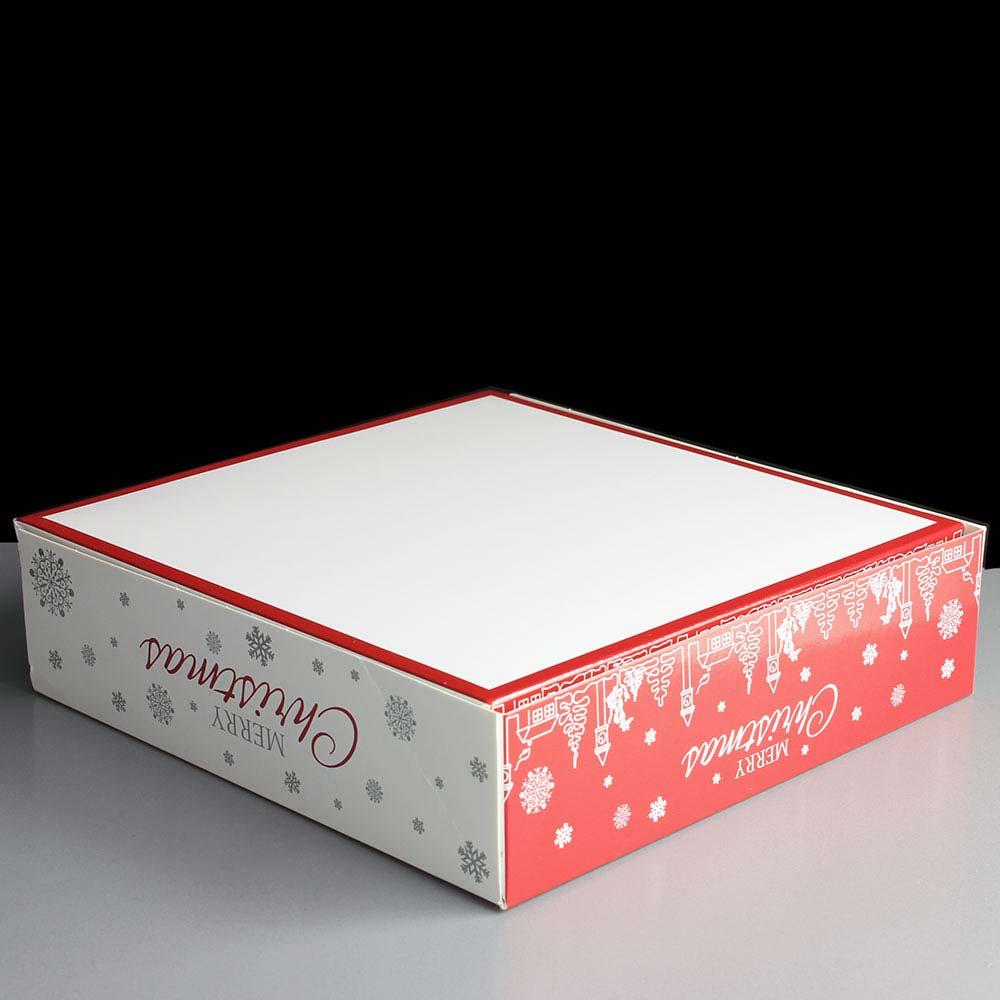 Premium Christmas Snowflake Square Mince Pie Boxes